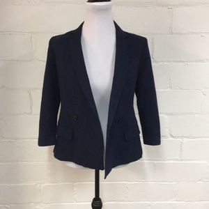 BR Seersucker Doublebreasted Blazer in Preppy Navy